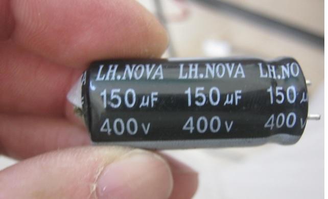 150uf 400 volt capacitor burst