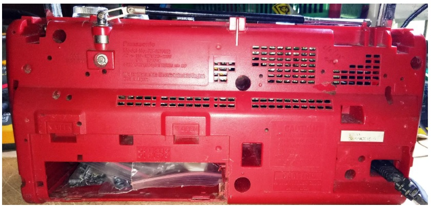 fixing panasonic two in one cassette player