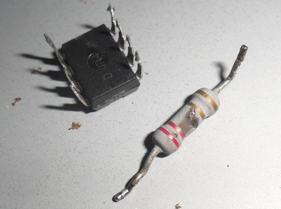 burnt components in led tv