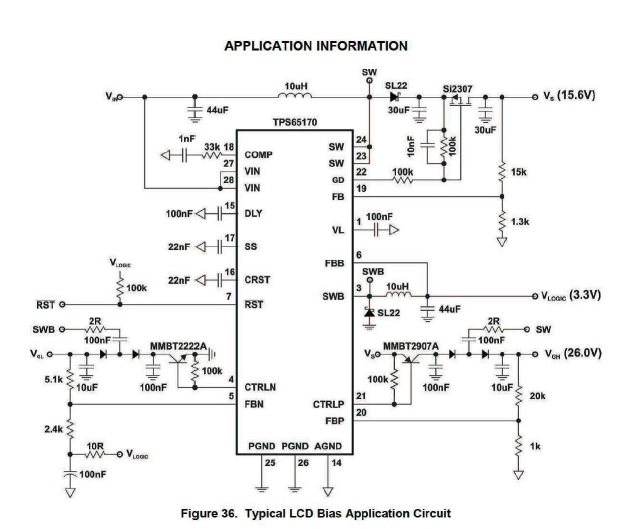 tps65170 ic schematic diagram datasheet