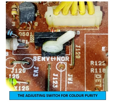 crt tv color purity switch