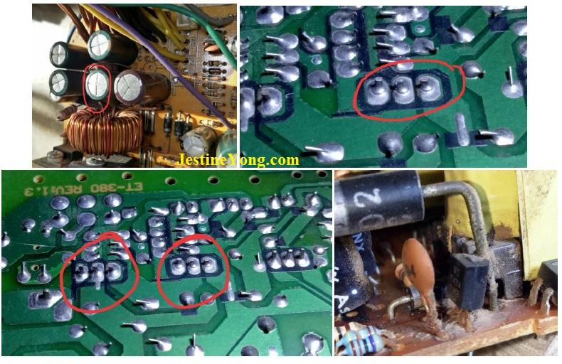 atx power supply circuit board repair