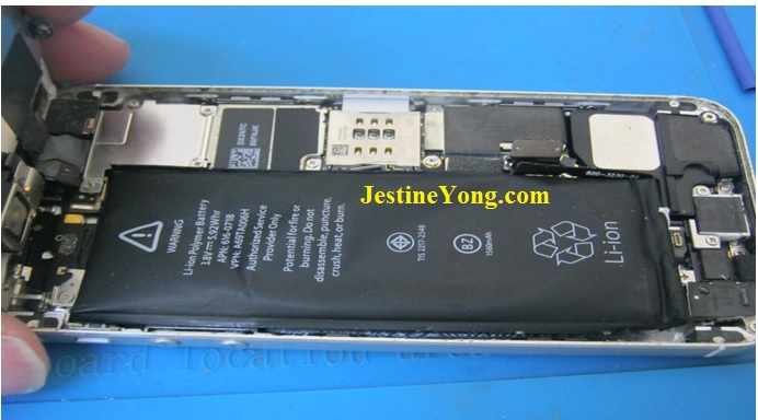 iphone 5s replaced battery