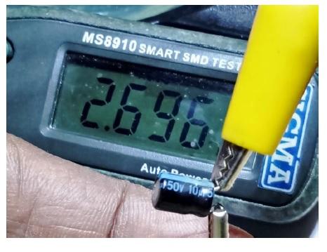 testing capacitor using smart tweezers
