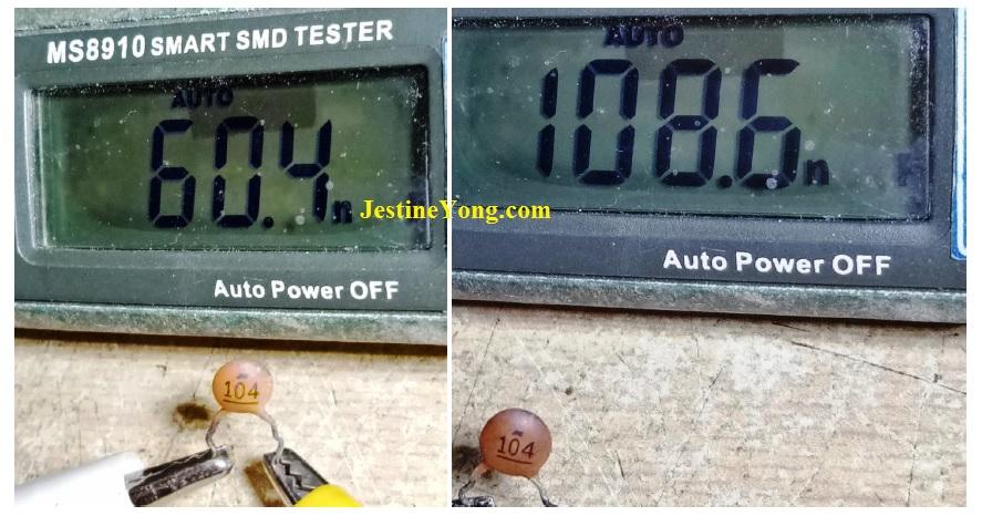 testing non polar capacitor