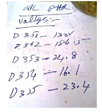 tv points test voltage