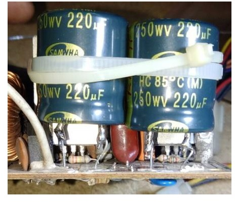 modify capacitor in power supply