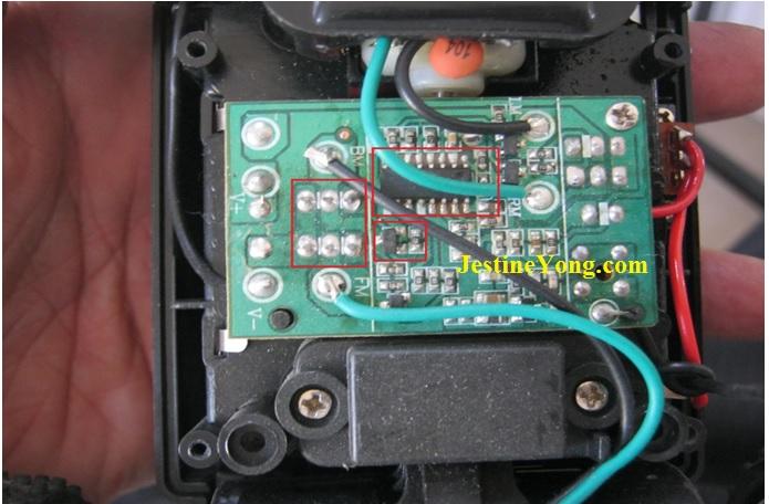 remote control circuit board repair