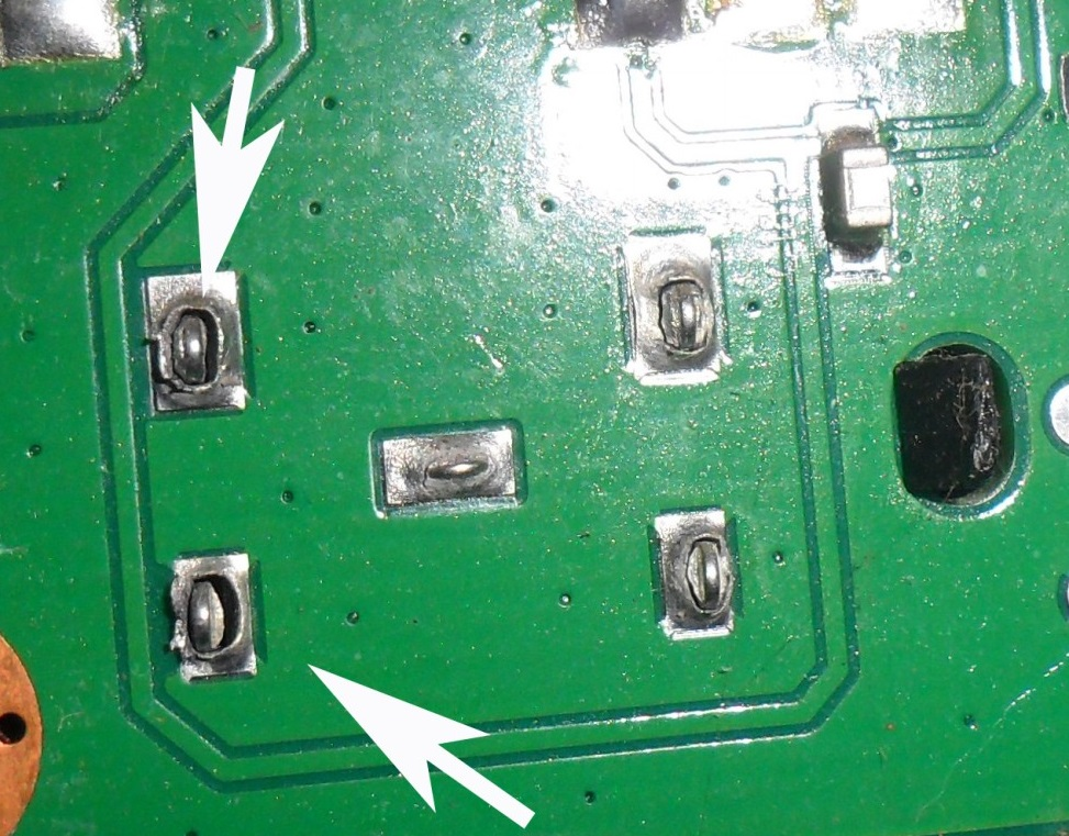 dry joints in rf jack in led tv