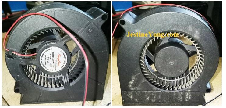 servicing projector fan
