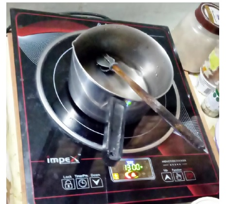 testing induction cooker