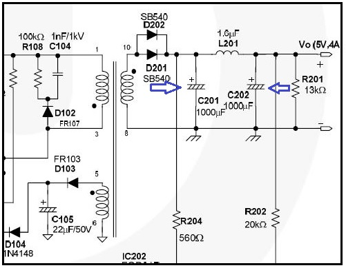 capacitor in smps