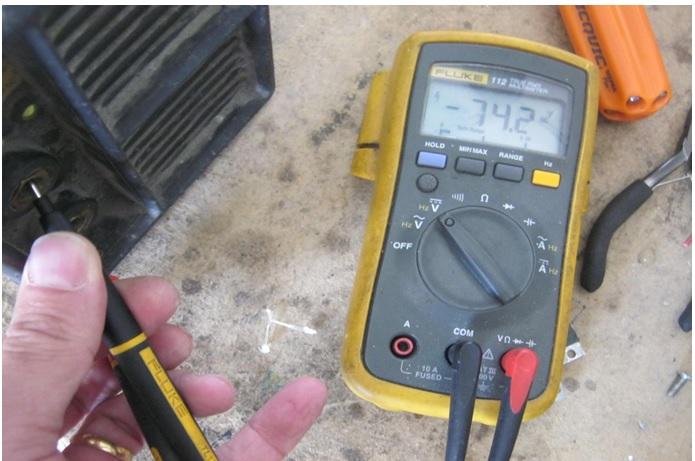 how to test welding machine dc voltage