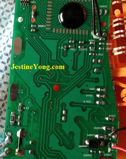 value marked on circuit board