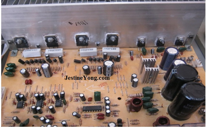 circuit board of surround sound amplifier